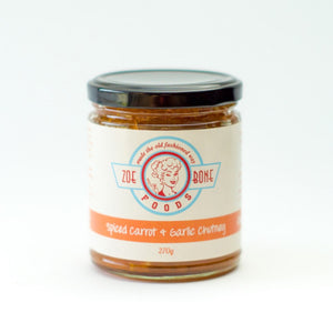 Zoe Bone Foods Spiced Carrot and Garlic Chutney 270gm