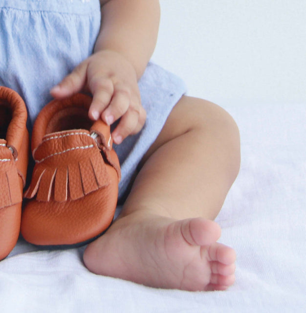 Mokksies soft sole baby first shoe