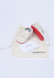Red hearts Printed Mokksies Moccasins Baby Shoes with Bag