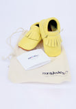 Yellow Mokksies Baby shoe Moccasins With Bag