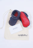 Alphabet Printed Soft Sole Baby Shoe with Bag