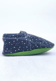 Navy Heart Moccasin