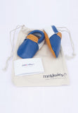 Sport Blue Moccasins Mokksies Baby Shoes with Bag