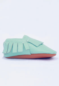 Mint Mokksies Moccasins Baby Shoes