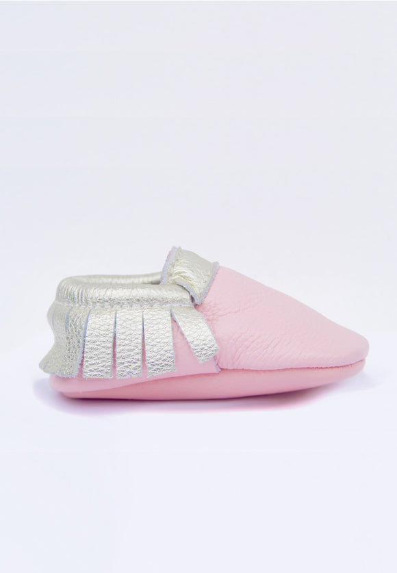 Pink and Gold Mokksies Moccasins baby Shoes