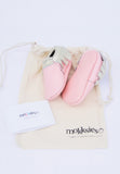 Pink and Gold Mokksies Moccasins baby Shoes with bag