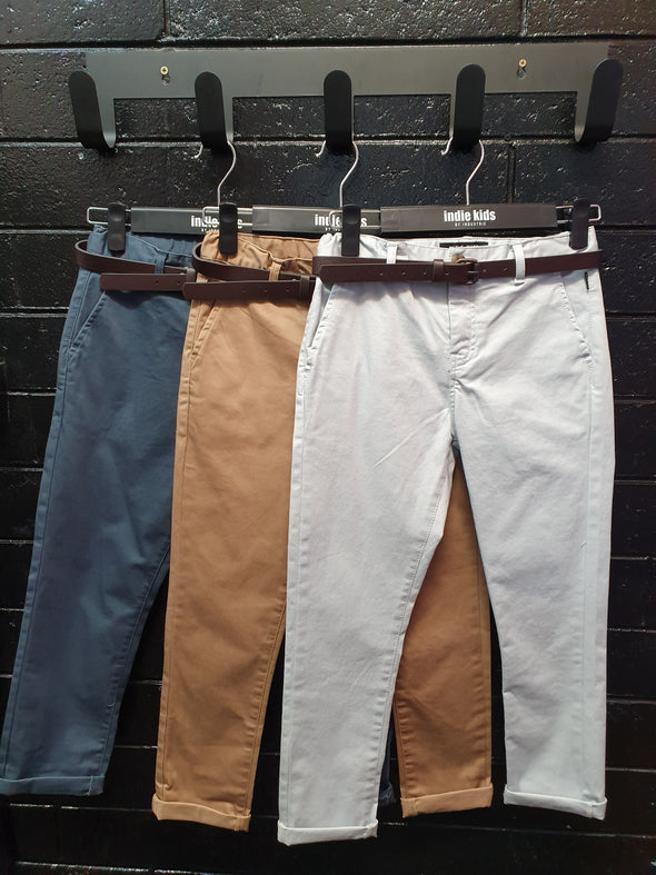 Boys Cuba Stretch Chino Pants by Indie Kids (7 Colours) - Innocence and Attitude