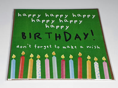 Happy Happy Birthday Card (unisex) - Innocence and Attitude