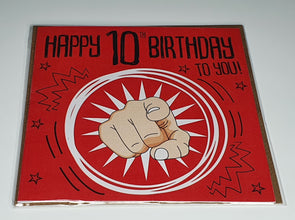 Boys Happy 10th Birthday card - Innocence and Attitude