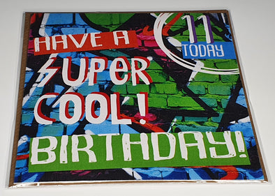 Boys Happy 11th Birthday Card - Innocence and Attitude