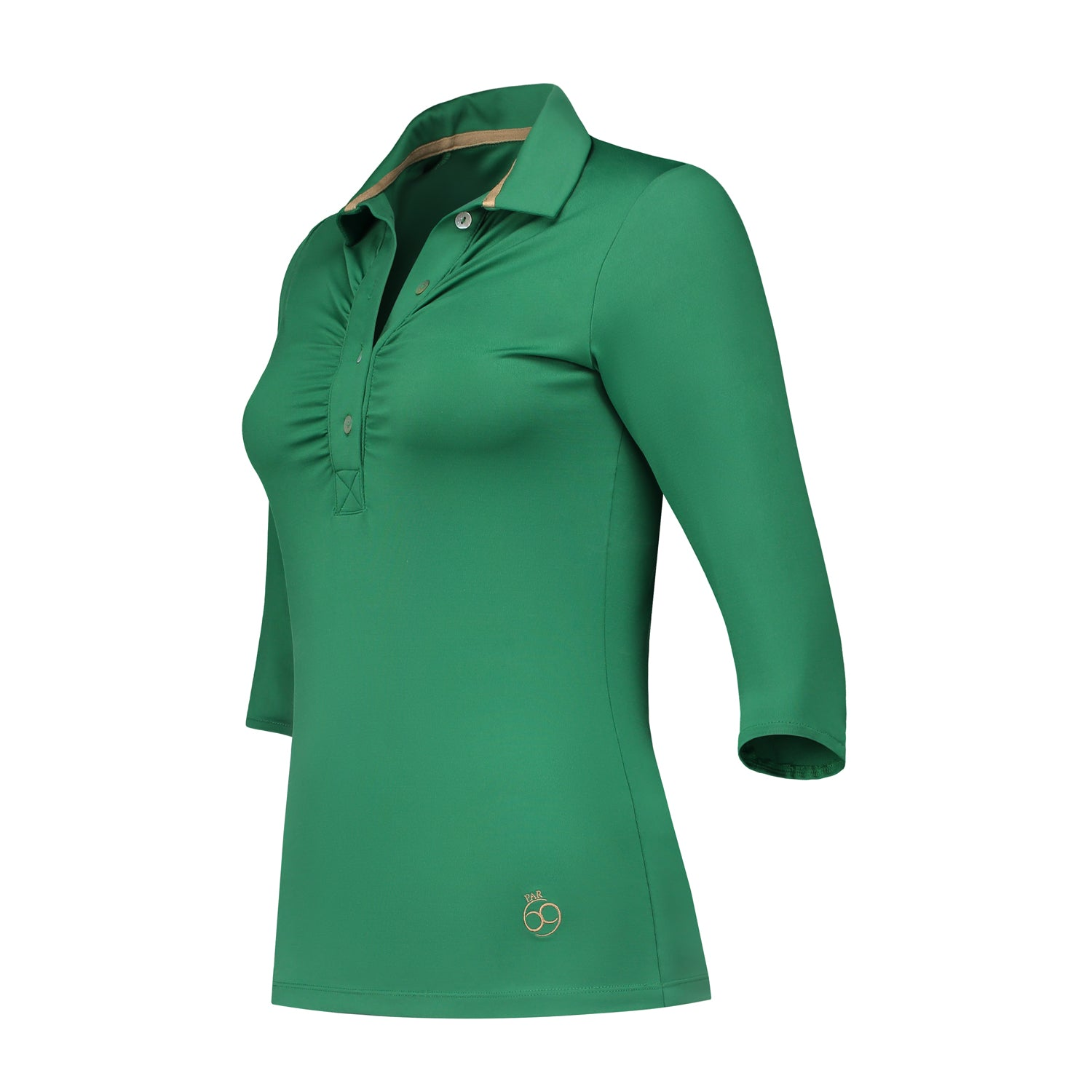 Bien Half-Long Sleeve Polo Green