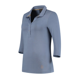 Bien Half-Long Sleeve Polo Ice Blue