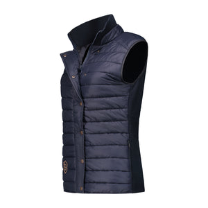 Sleeveless bodywarmer in navy