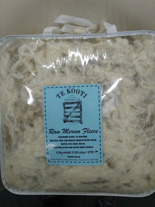 Raw Fleece - White - 3.3KG