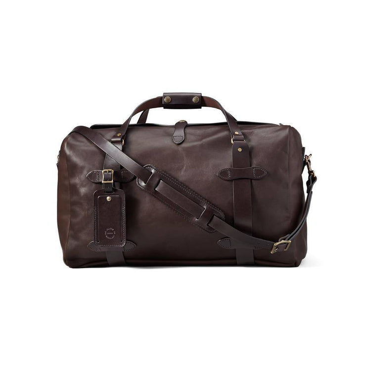 MEDIUM WEATHERPROOF LEATHER DUFFLE BAG