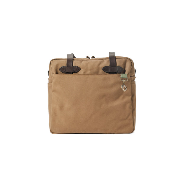 RUGGED TWILL TOTE BAG WITH ZIPPER