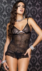 2-Piece Lace Cami with Matching G-String 56063