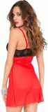 Music Legs Mesh Chemise with Lace Bra Top 60027