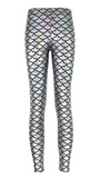 Silver Holographic Mermaid Leggings - 6130015152044
