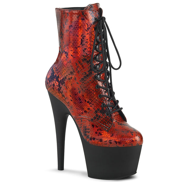 ADORE-1020SP  Red Holographic Snake Print/Black Matte