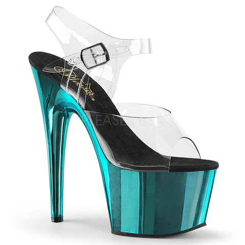 ADORE-708 Clear Chrome Turquoise