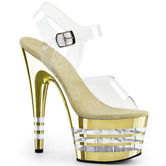 ADORE-708CHLN Clear/Gold Chrome