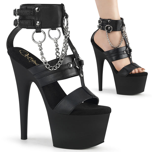 ADORE-761  Black Faux Leather/Black Matte