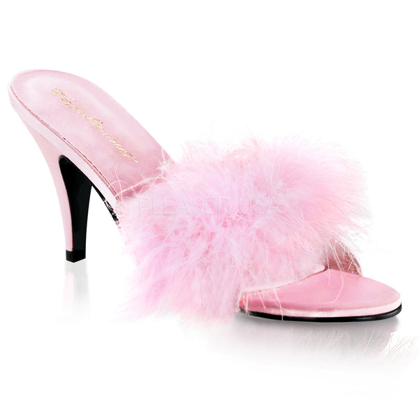 AMOUR-03  Baby Pink Satin-Fur
