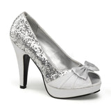 BETTIE-10  Silver Glitter-Satin