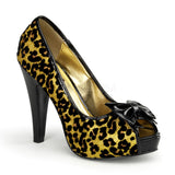 BETTIE-12  Gold Glitter (Cheetah Print)