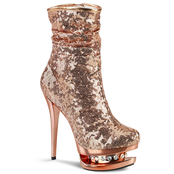 BLONDIE-R-1009  Rose Gold Sequins/Rose Gold Chrome