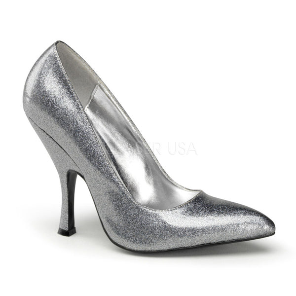 BOMBSHELL-01G  Silver Pearlized Glitter Patent