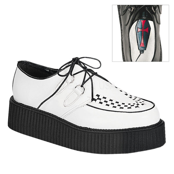 CREEPER-402  White Leather