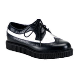 CREEPER-608  Black-White Leather