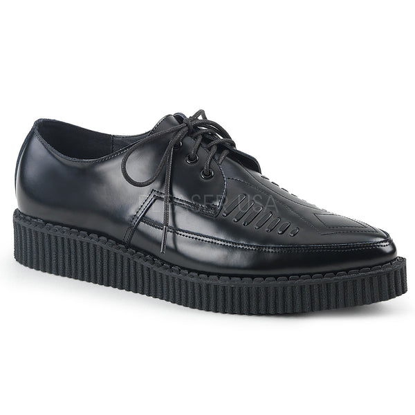 CREEPER-712  Black Leather