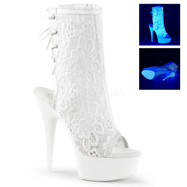 DELIGHT-1018ML White Neon  Lace
