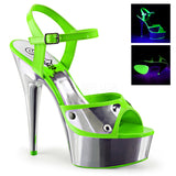 DELIGHT-609NC Green Neon Silver Chrome