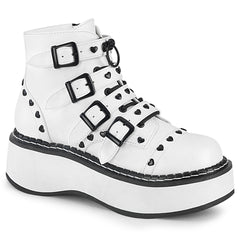 EMILY-315  White Vegan Leather