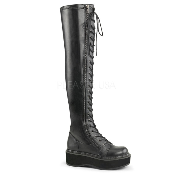 EMILY-375  Black Str Vegan Leather
