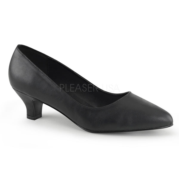 FAB-420  Black Faux Leather