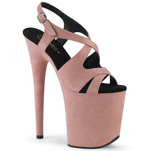 FLAMINGO-831FS  Baby Pink Faux Suede/Baby Pink Faux Suede