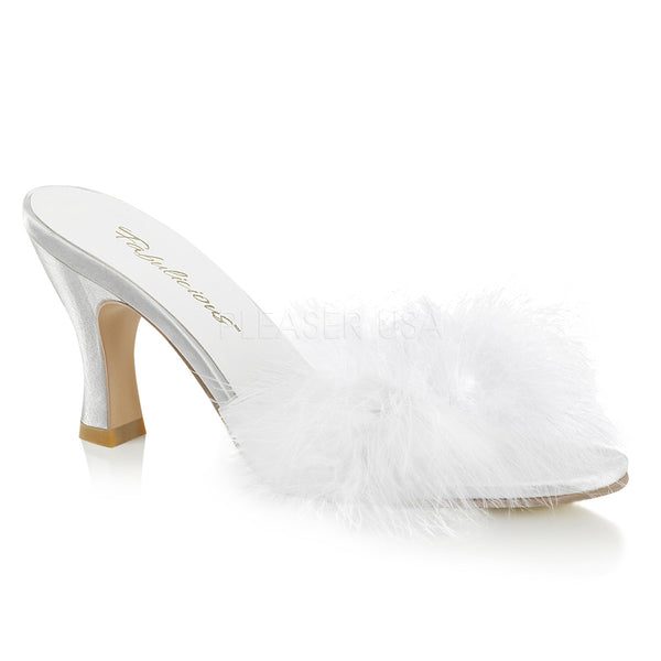 FLAPPER-01F  White Pu-Fur