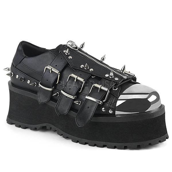 GRAVEDIGGER-03 Blk Vegan Leather