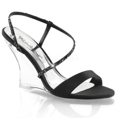 LOVELY-417  Black Satin/Clear