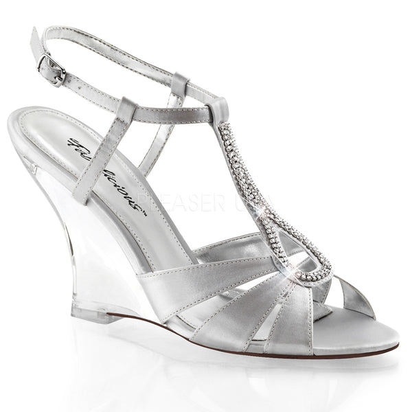 LOVELY-420 Satin Silver Clear
