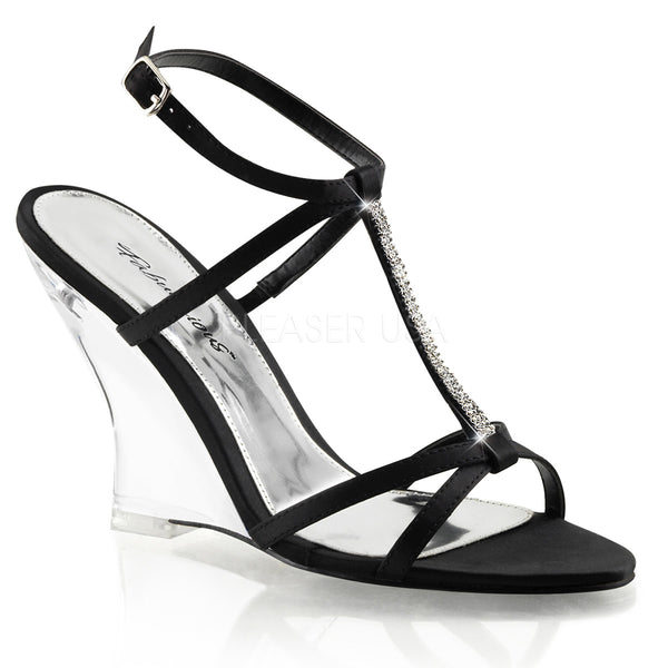LOVELY-428  Black Satin/Clear