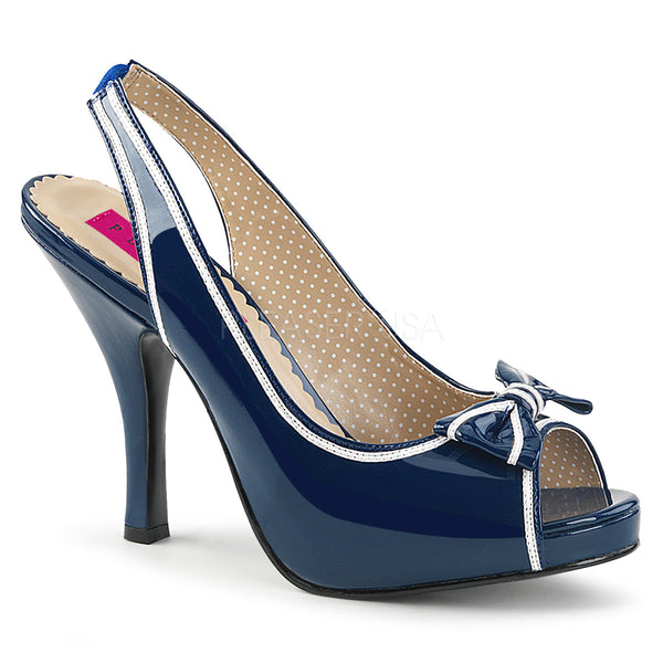PINUP-10  Blue-White Patent