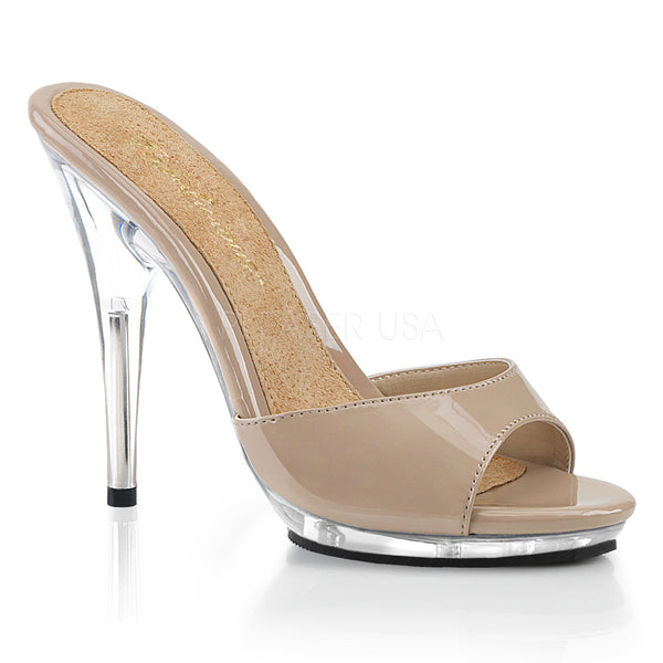 POISE-501  Nude Patent/Clear