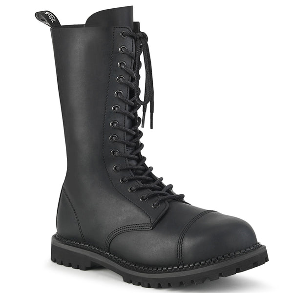 RIOT-14  Black Vegan Leather