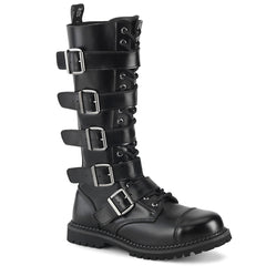 RIOT-18BK  Black Leather